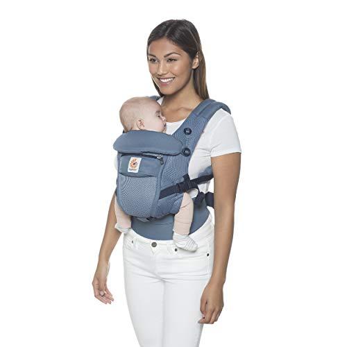 Ergobaby Adapt Babytrage für Neugeborene, Oxford Blue